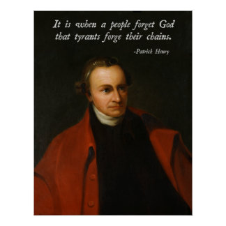 Patrick Henry God Quote Poster