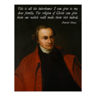 Patrick Henry Jesus Quote Poster