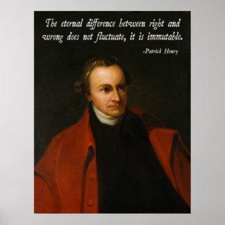 Patrick Henry Morality Print