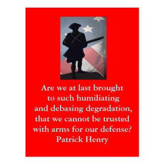 PATRICK HENRY POST CARDS