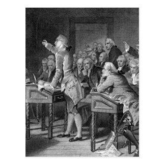 Patrick Henry que dirige la imagen de Virginia_War Tarjeta Postal