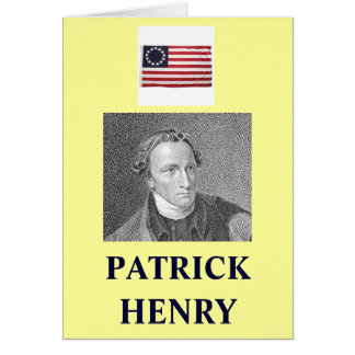 PATRICK HENRY QUOTE GREETING CARD