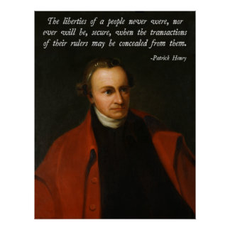 Patrick Henry Quote Poster