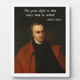 Patrick Henry Right to Bear Arms Plaque