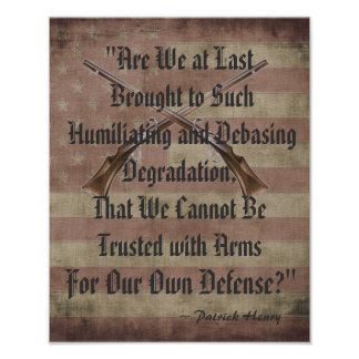 Patrick Henry: Right to Bear Arms Print