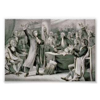 """Patrick Henry the Rights of the Colonies"" Poster"