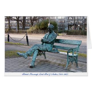 Patrick Kavenagh Irish Poet, Lifesize Sculpture Greeting Card