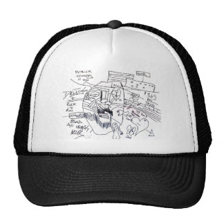 patrick kennedy print mesh hats