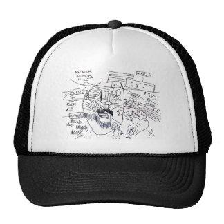 patrick kennedy print trucker hat