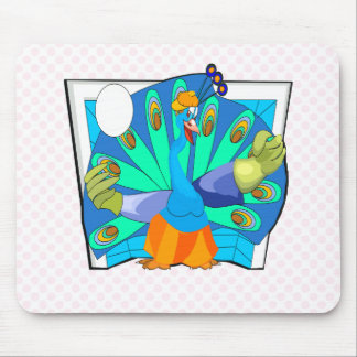 Patrick Peacock Mouse Pad