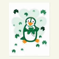 Patrick Penguin St. Patrick's Day Postcard