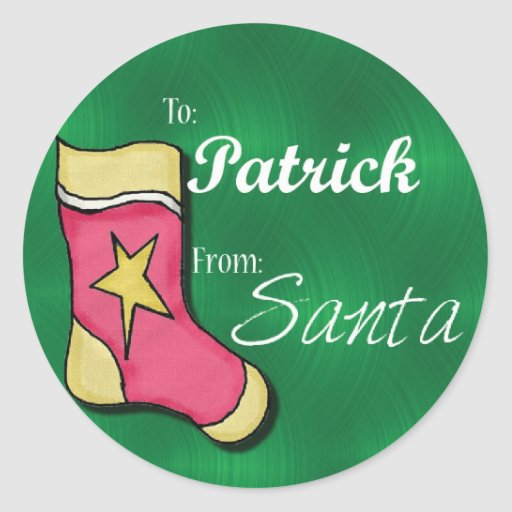 Patrick Personalized Christmas Label
