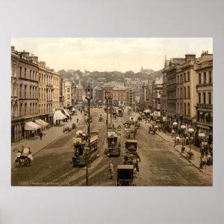Patrick s Street Cork City 19th century Ireland Poster