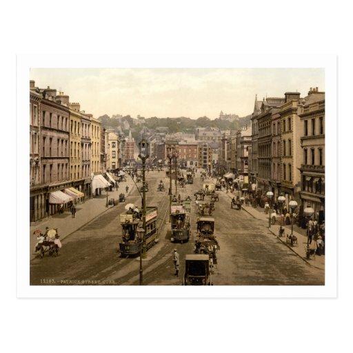 Patrick's Street, Cork City, Ireland, 19th century Postcard