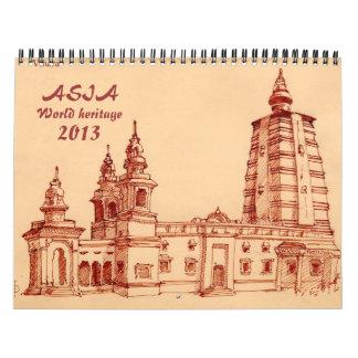 Patrimonio mundial de Asia Calendarios