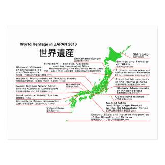 Patrimonio mundial en JAPÓN 2013 montaña FUJI Tarjetas Postales