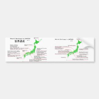Patrimonio mundial en JAPÓN Pegatina Para Auto