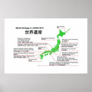 Patrimonio mundial en las islas 2012 de JAPÓN Ogas Posters