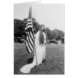 Patrioric 4th of July on the Ellipse, 1919 Card