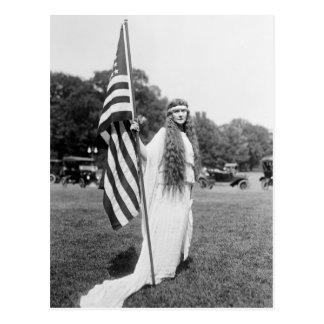 Patrioric 4th of July on the Ellipse, 1919 Postcard