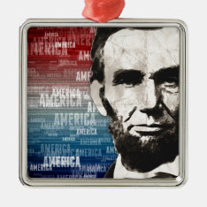 Patriot Abraham Lincoln Metal Ornament at Zazzle
