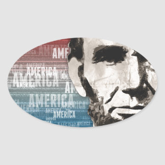 Patriot Abraham Lincoln Oval Sticker