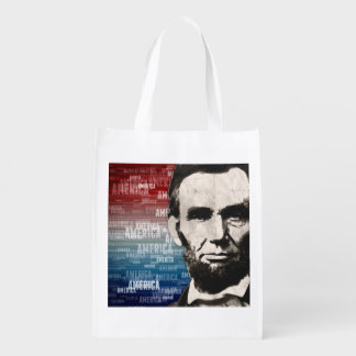 Patriot Abraham Lincoln Reusable Grocery Bag