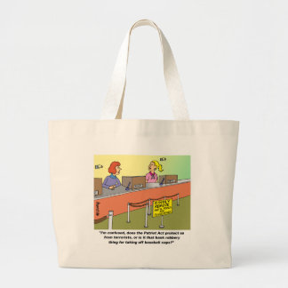 PATRIOT ACT / BANK ROBBERY CANVAS BAGS