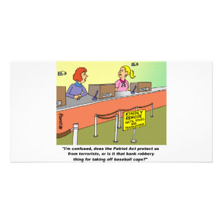 PATRIOT ACT / BANK ROBBERY CUSTOM PHOTO CARD