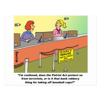PATRIOT ACT / BANK ROBBERY POSTCARD