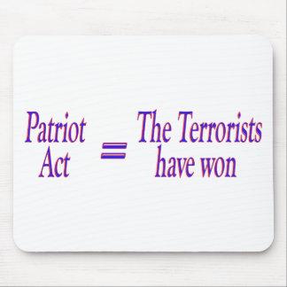 Patriot Act = los terroristas ganados Tapetes De Raton