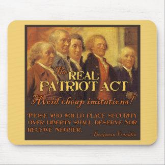 Patriot Act real, los fundadores Alfombrilla De Ratones