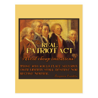 Patriot Act real, los fundadores Postales
