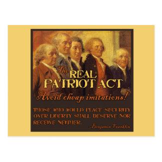 Patriot Act real, los fundadores Tarjetas Postales