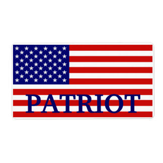 Patriot American Flag Label Shipping Label