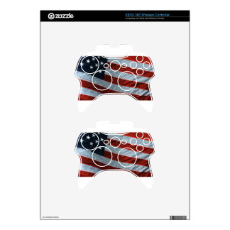 Patriot American Flag Skin Xbox 360 Controller Skins