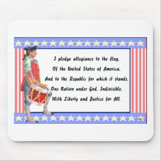 Patriot and Pledge of Allegiance Logo Mouse Pad