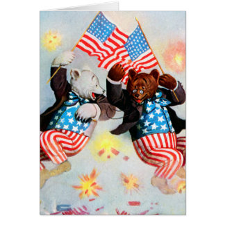 Patriot Bear Celebrate the Fourth of July Card