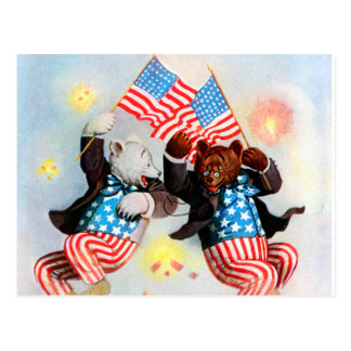 Patriot Bear Celebrate the Fourth of July Post Cards