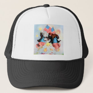 Patriot Bear Celebrate the Fourth of July Trucker Hat