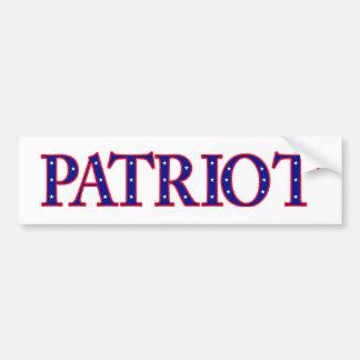 Patriot bumper sticker car bumper sticker