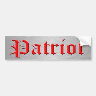 Patriot Car Bumper Sticker