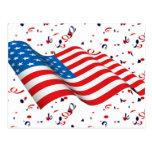Patriot Confetti Postcard