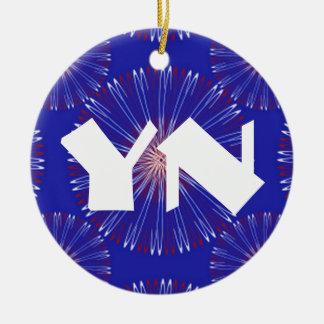 Patriot Coronas bold monogram Ceramic Ornament