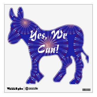 Patriot Coronas Democratic Donkey wall decal