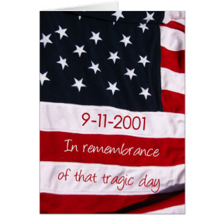 patriot day flag 9-11 card