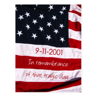 patriot day flag 9-11 postcard