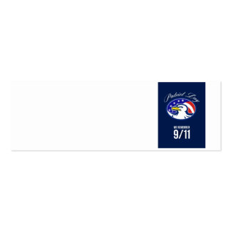 Patriot Day We remember 911 Poster Card Business Card