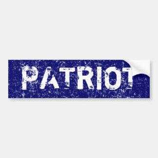 Patriot (Distressed look) Bumper Sticker