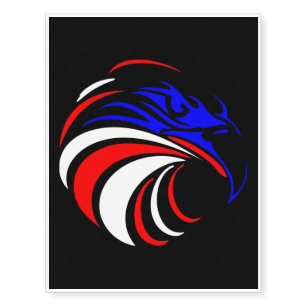Red White Blue Eagle Tattoo Home Décor Furnishings Pet Supplies